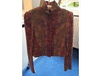 Ralph Lauren Floral Unlined Fitted Jacket UK 12
