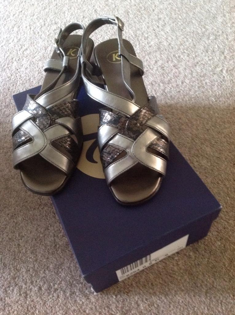 Ladies K Sandals Size 6 (Europe 39.5) - Pewter