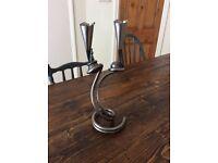 Handmade iron candle stick / sculpture