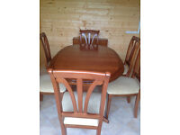 Bargain - dining table and chairs in very good condition