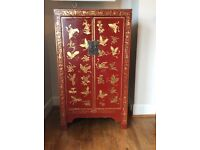 Chinese style red/gold John Lewis cabinet