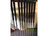 Set of Lynx Black Cat Irons with carry bag.
