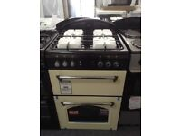 Leisure classic double oven. Cream 60cm. £349 RRP £549. New/graded 12 month Gtee