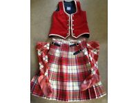 Highland Dance Outfit Dress Red Culloden