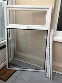 White top opener UPVC window for sale. As new white mismeasure