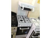 Beko 50cm white high level grill, single gas cooker. £280. New/graded. 12 month Gtee
