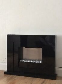 Next Black Gloss Fire tables Tv unit and sideboard