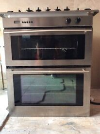 Gas intergrated double oven and 5 ring gas hob
