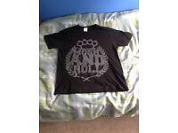 Drop Dead RARE mosh n roll t-shirt size large