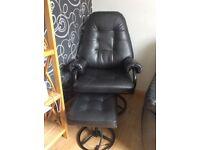 Black single chair