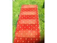Used lovely brick red stair carpet