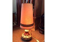 Retro German pottery table / floor lamp. Vintage ceramic light.