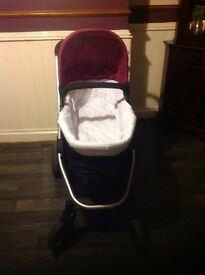 Mothercare Expedior pram + car seat purple