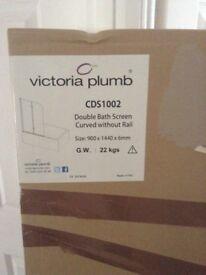 Brand new hinged bath shower screen
