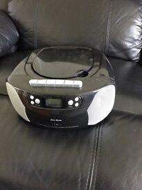 Alba Portable CD Radio Cassette Recorder
