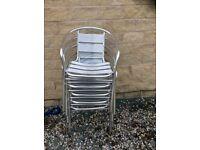 Aluminium bistro outside chairs