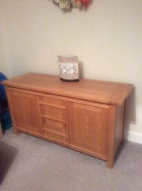 Solid oak sideboard from Harveys