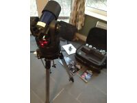 Meade ETX90 ec Telescope with Tripod + Travel Case large collection Accessories.