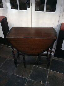 Antique Furniture - Dark Wood Side Table