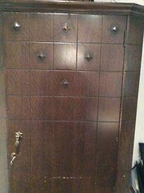 Single Wardrobe or Coats Store Cupboard - Solid Wood