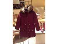 Girls warm coat, age 6/7 years