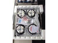 Beko 4 ring black gas hob. RRP £329 new in package 12 month Gtee