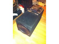 10 inch 1200W Pioneer Comp Spec Subwoofer with custom built box - 600W Amp included