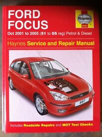 Haynes Workshop Manual For Ford Focus, 01-05