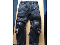 Alpinestars leather track pants