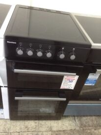 Blomberg black 50cm electric cooker. £269. New/graded 12 month Gtee