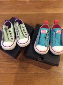 Infant size 4 Converse, £5 each pair