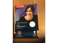ACCA approved paper p1 study text book