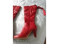Fab pair of Red Leather Boots.