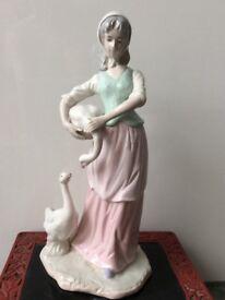 Large Porcelain Figure Ornament