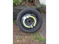 Space saver tyre for a VW Touran