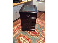 Reproduction Victorian two drawer fulscape filing cabinet
