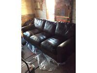 Luxury John Lewis real leather 'madison' luxury sofa - worth £2800