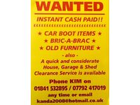 House/garage/shed/garden clearance.