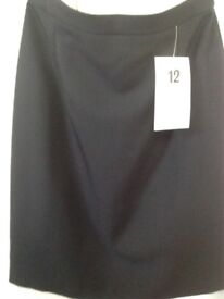 Ladies black skirt size 12 brand new with tags