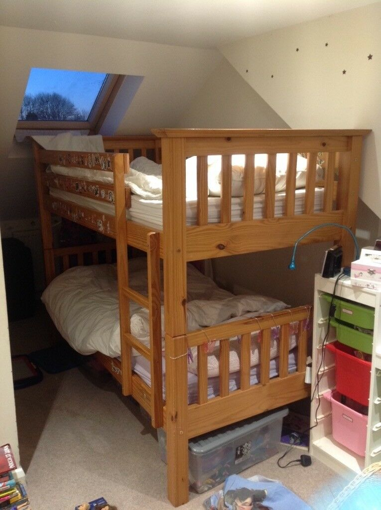 Solid Wood Bunk Beds From Marks And Spencer Plus One John