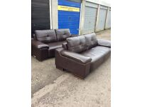 3 seater brown leather sofa .... 2 available