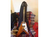 Vintage Flying V guitar