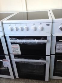 Beko 50cm electric cooker. RRP £304 PRICE £239 new/graded 12 month Gtee