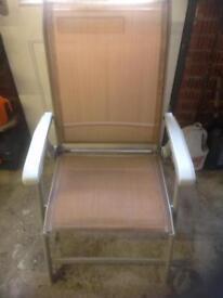 4 folding garden chairs
