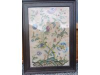 Antique Embroidered Picture.