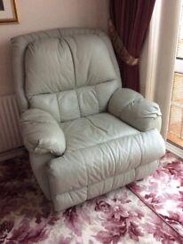 Reclining swivel rocking armchair