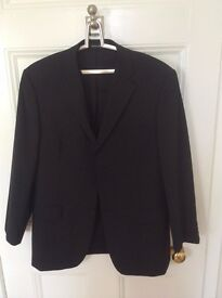 AS NEW WORN ONCE Men's Black Balmain Tailored Suit with Two Pairs of Trousers (RRP £300)