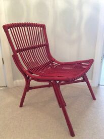 Natural Bamboo Chair - red ( no plastic)