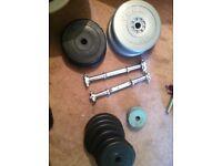 Weight bench weights dumbells barbells gloves