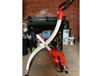 Crystaltec foldable exercise bike